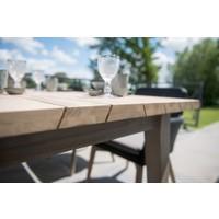 thumb-Ovale Tuintafel - Derby - Teak / Aluminium - 180x110 cm - Taste by 4SO-3