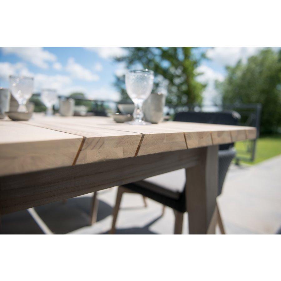 Ovale Tuintafel - Derby - Teak / Aluminium - 180x110 cm - Taste by 4SO-3