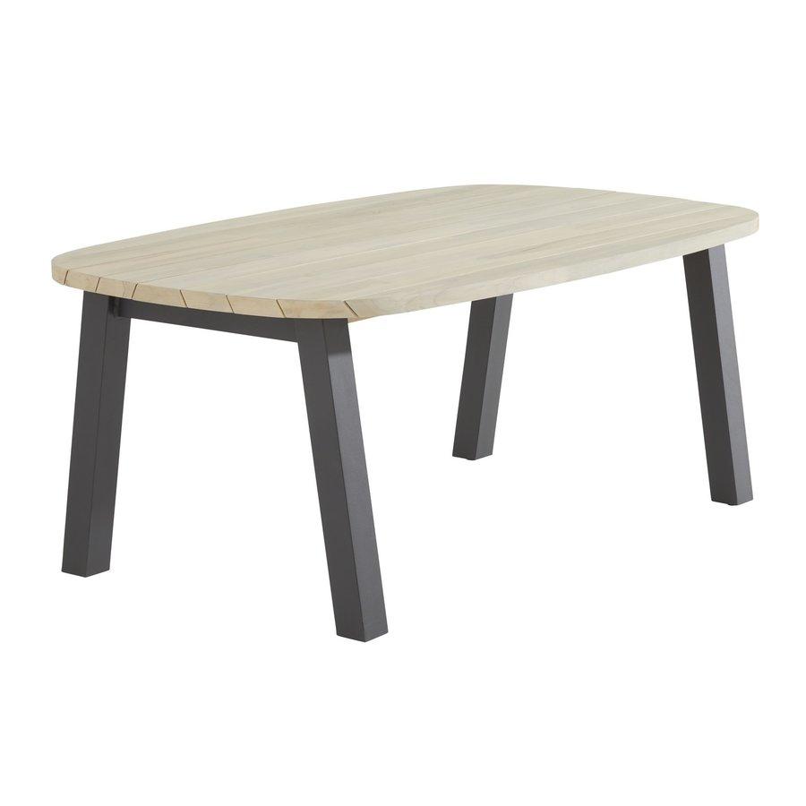 Ovale Tuintafel - Derby - Teak / Aluminium - 180x110 cm - Taste by 4SO-2