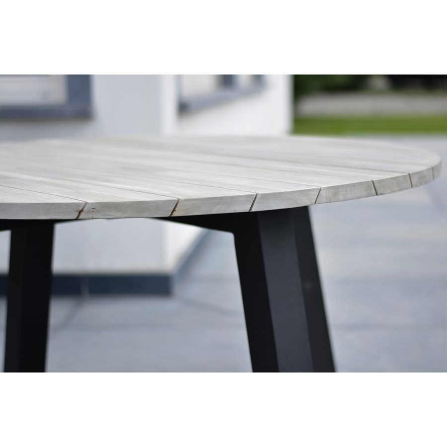 Ronde Tuintafel - Derby - Ø 130 cm - Teak / Aluminium - Taste by 4SO-3