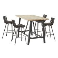 thumb-Bartafel Buiten - Derby - Teak / Aluminium - 160x90x105cm - Taste by 4SO-3