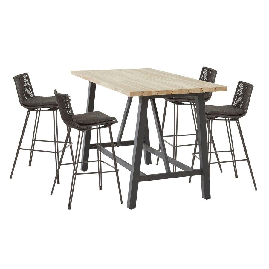 Bartafel Buiten - Derby - Teak / Aluminium - 160x90x105cm - Taste by 4SO-3