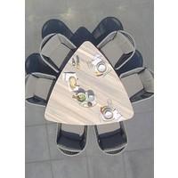 thumb-Driehoekige Tuintafel - Derby - 170 cm - Teak / Aluminium - Taste by 4SO-4