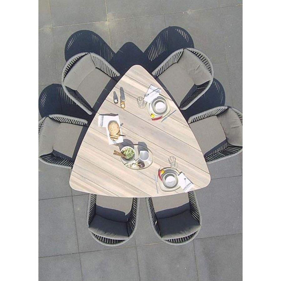 Driehoekige Tuintafel - Derby - 170 cm - Teak / Aluminium - Taste by 4SO-4