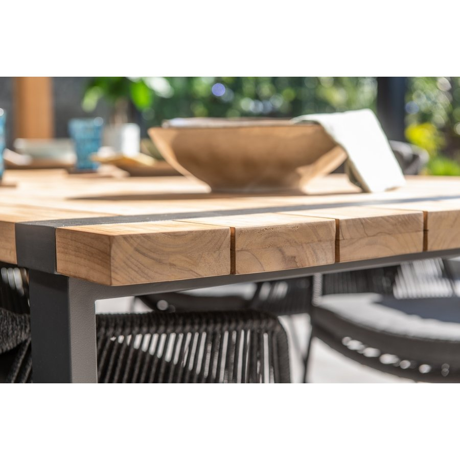 Alto - Teak / Aluminium - 240x100 cm - Taste by 4SO-8