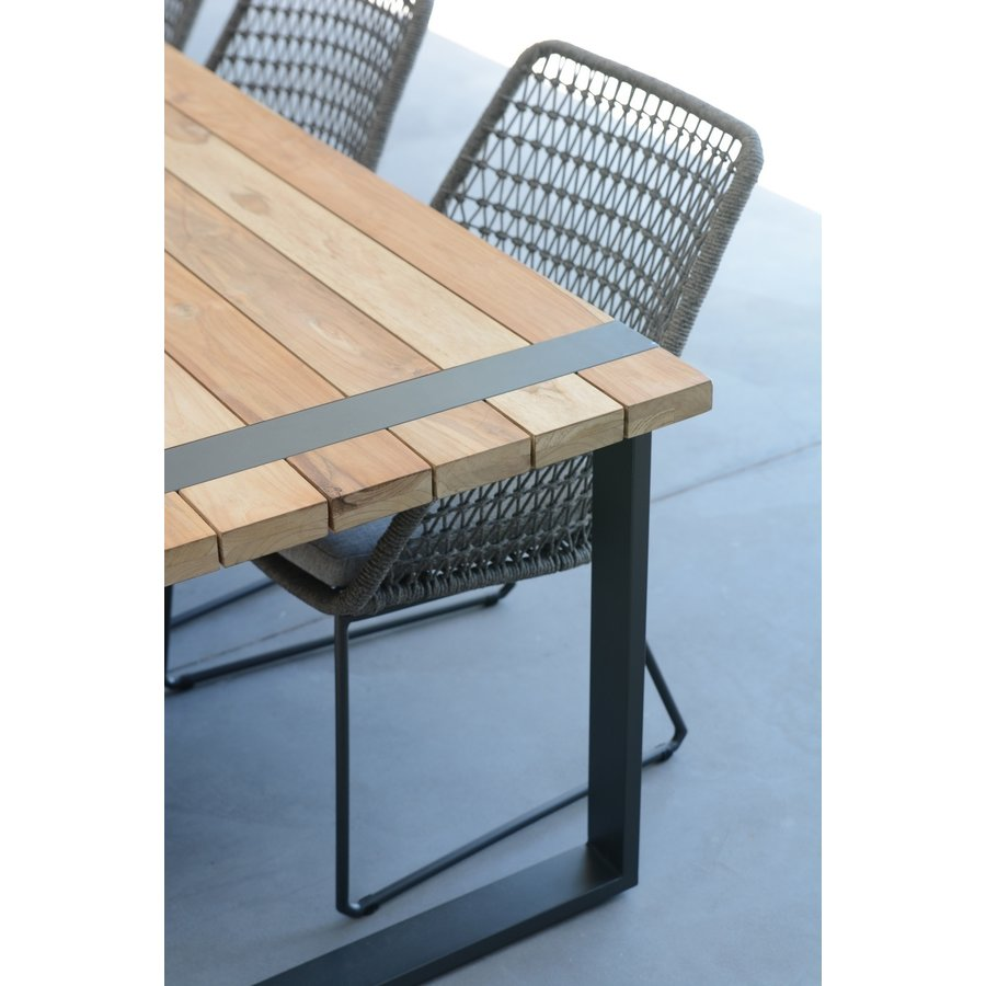 Alto - Teak / Aluminium - 240x100 cm - Taste by 4SO-7