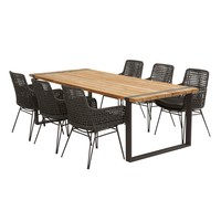 thumb-Alto - Teak / Aluminium - 240x100 cm - Taste by 4SO-4