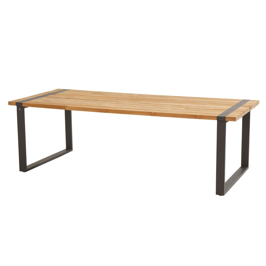 Alto - Teak / Aluminium - 240x100 cm - Taste by 4SO-1
