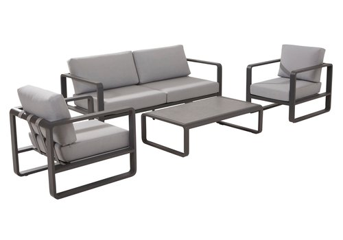 Stoel-Bank Loungeset - Omega - 4 Zits - Aluminium - Taste by 4SO
