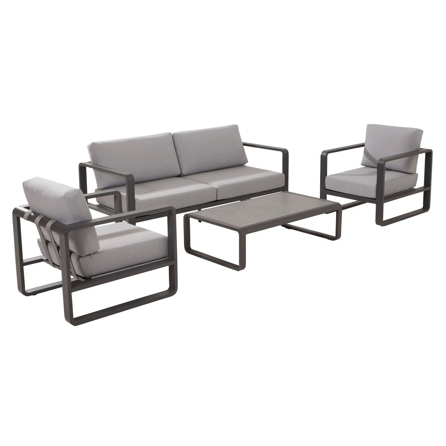 Stoel-Bank Loungeset - Omega - 4 Zits - Aluminium - Taste by 4SO-1