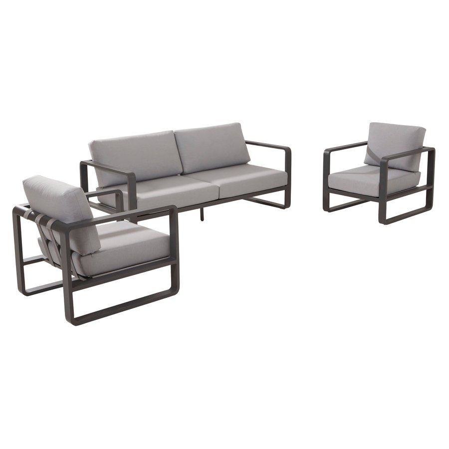 Stoel-Bank Loungeset - Omega - 4 Zits - Aluminium - Taste by 4SO-2