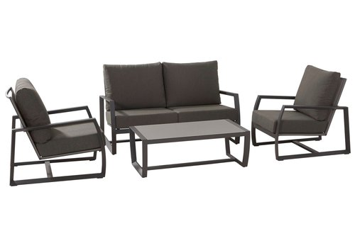 Stoel-Bank Loungeset - New Mauritius - 4 Zits - Aluminium - Taste by 4SO
