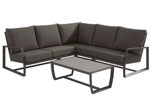 Hoek Loungeset - New Mauritius - 5 Zits - Aluminium - Taste by 4SO