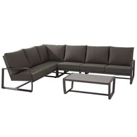 thumb-Hoek Loungeset - New Mauritius - 6 Zits - Aluminium - Taste by 4SO-1