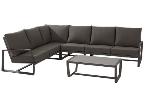 Hoek Loungeset - New Mauritius - 6 Zits - Aluminium - Taste by 4SO