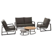 thumb-Stoel-Bank Loungeset - New Mauritius - 4 Zits - Teak/Keramiek - Taste by 4SO-1