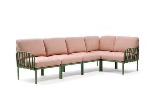 Komodo Loungeset - Roze / Agave Groen - Modulaire - Nardi