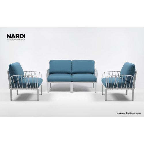 Nardi Komodo Loungeset - ijsblauw / Wit - Sunbrella - Modulaire - Nardi
