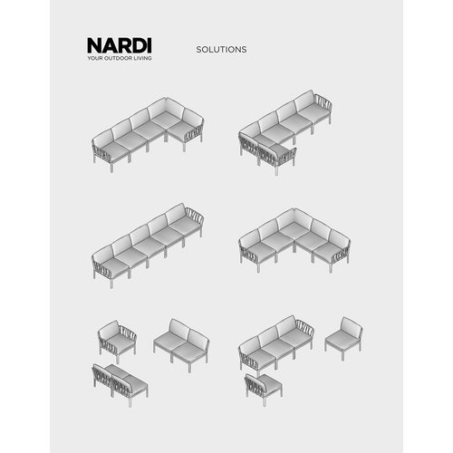 Nardi Komodo Loungeset - Jungle Groen  / Taupe - Sunbrella - Modulaire - Nardi