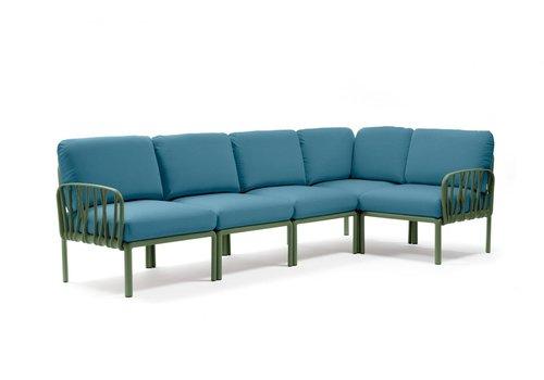 Komodo Loungeset - Adriatisch Blauw / Agave Groen - Sunbrella - Modulaire - Nardi