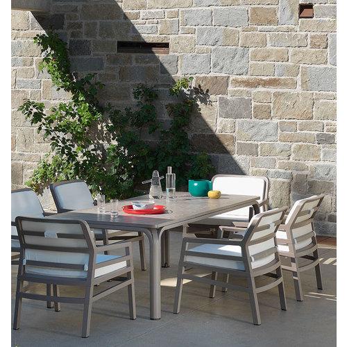 Nardi Lounge Tuinstoel - Aria Fit - Bianco - Koffie Bruin - Nardi