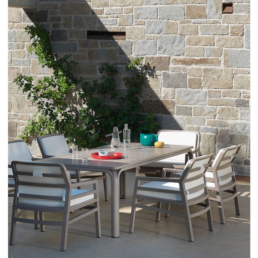 Lounge Tuinstoel - Aria Fit - Bianco - Koffie Bruin - Nardi-6