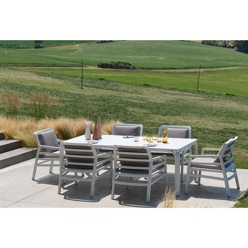 Nardi Lounge Tuinstoel - Aria Fit - Bianco - Grijs - Nardi