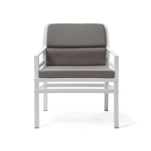 Nardi Lounge Tuinstoel - Aria Fit - Bianco - Grijs - Sunbrella - Nardi