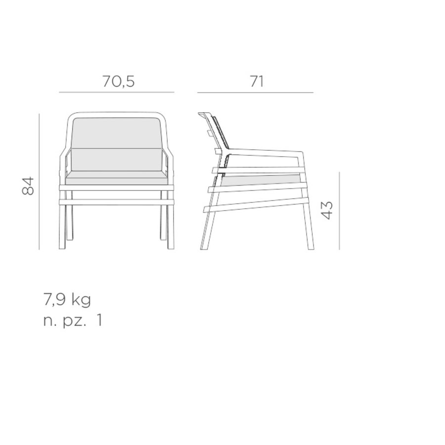Lounge Tuinstoel - Aria Fit - Tortora - Koffie Bruin - Nardi-10