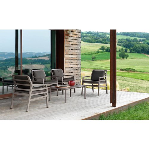 Nardi Lounge Tuinstoel - Aria - Bianco - Grijs - Sunbrella - Nardi