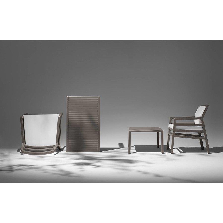Lounge Tuinstoel - Aria - Tortora - Grijs - Nardi-4