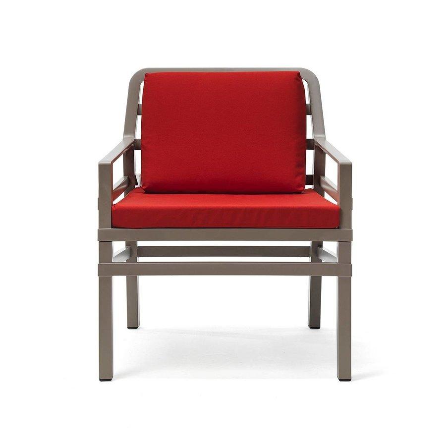 Lounge Tuinstoel - Aria - Tortora - Cherry - Rood - Nardi-2