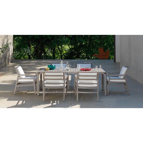 Nardi Lounge Tuinstoel - Aria - Bianco - Koffie Bruin - Nardi