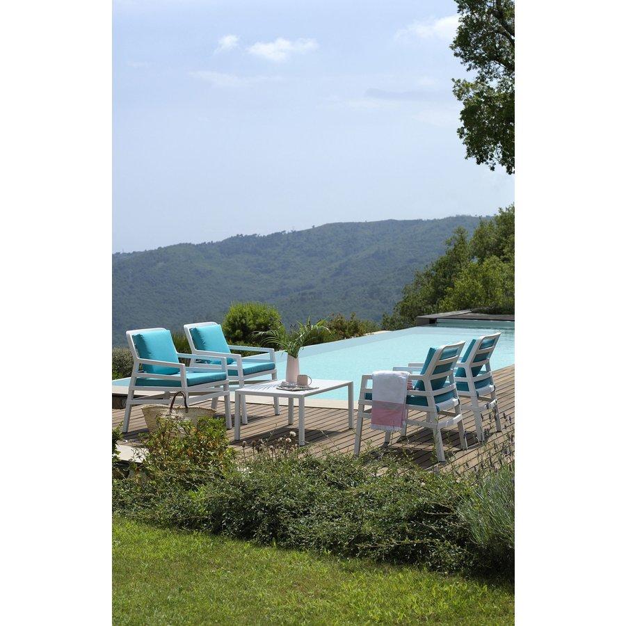 Lounge Tuinstoel - Aria - Bianco - Sardinia - Turquoise - Nardi-6