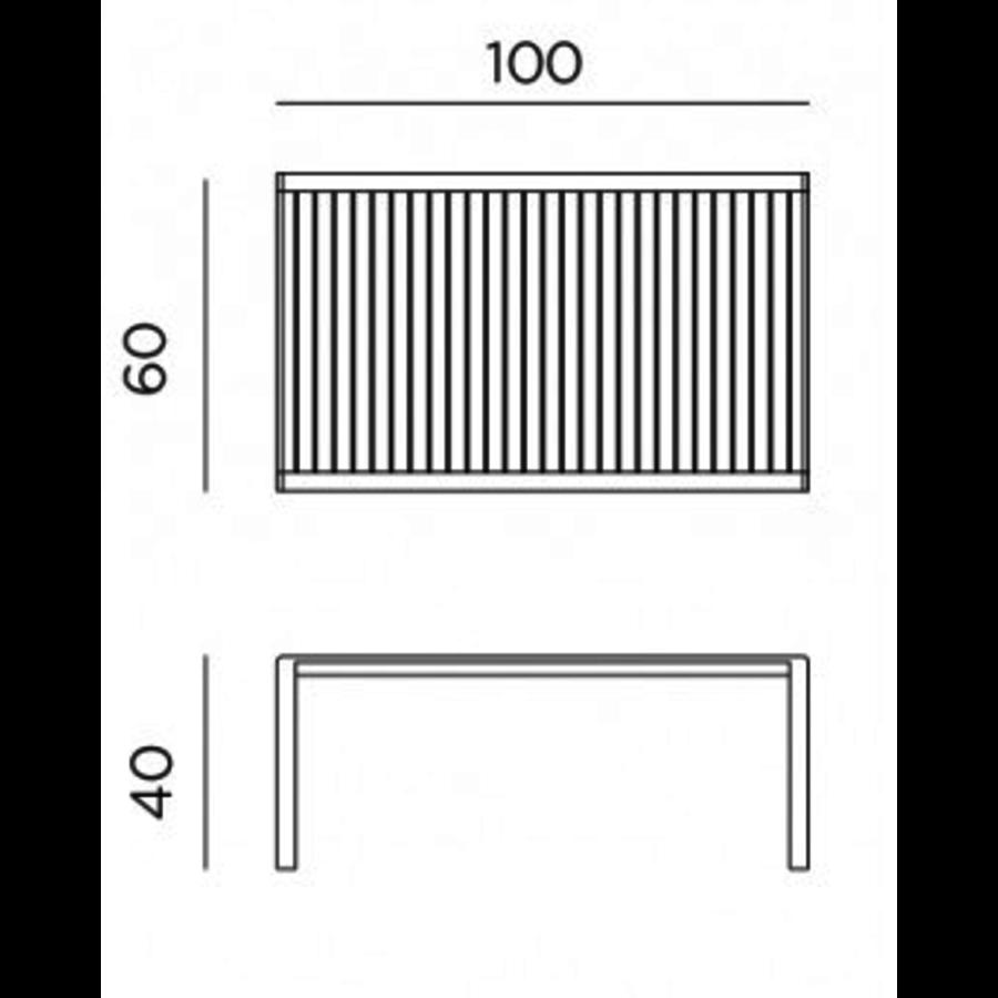 Lounge Tuintafel - Aria - Bianco - Wit - 100 - Nardi-9
