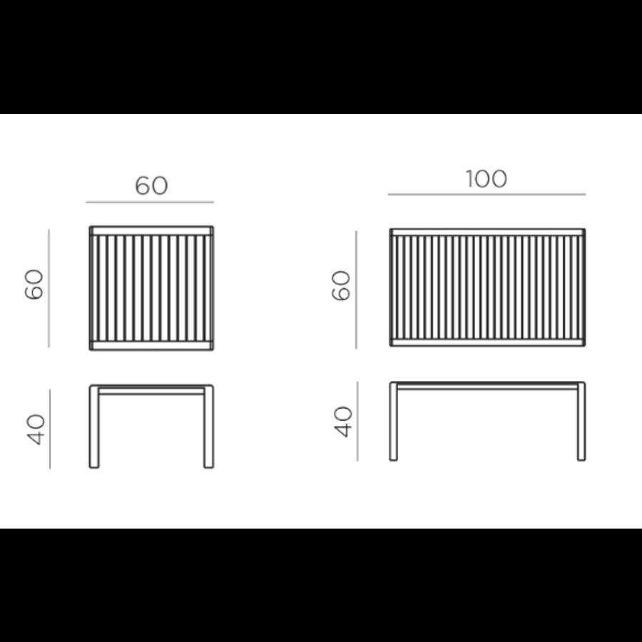 Lounge Tuintafel - Aria - Bianco - Wit - 60 - Nardi-10