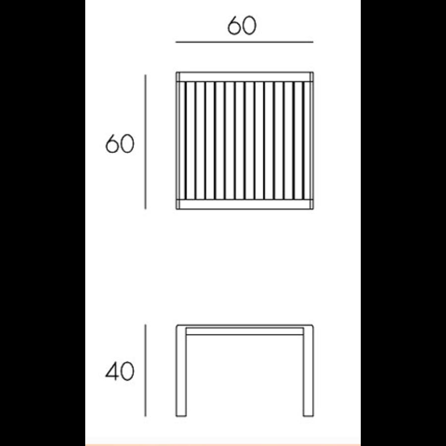 Lounge Tuintafel - Aria - Bianco - Wit - 60 - Nardi-9