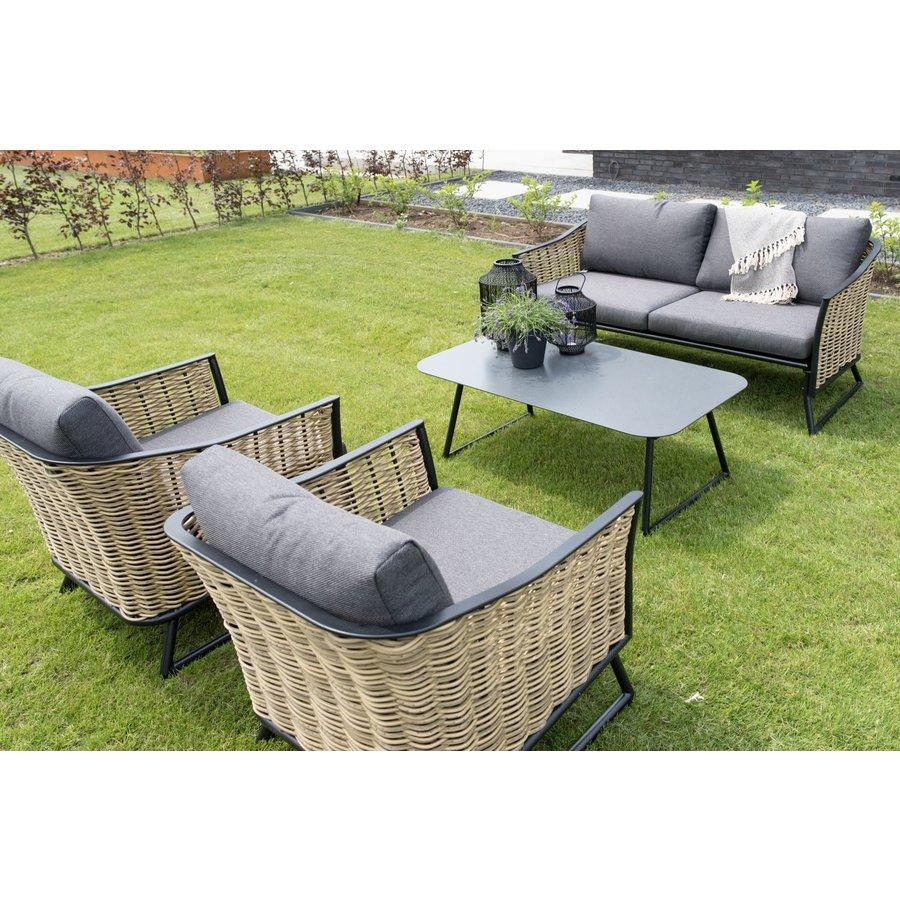 Lounge Tuinstoel - Solamente - Wicker - Lesli Living-6
