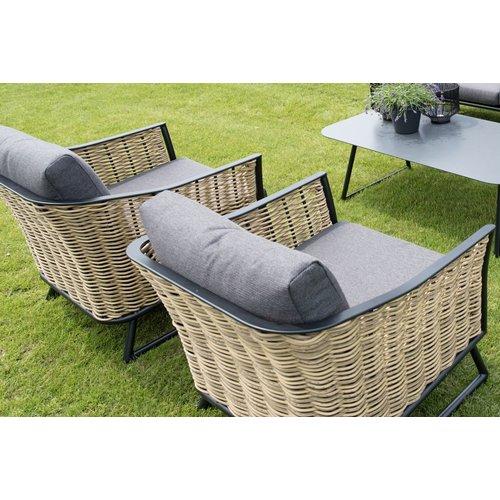 Lesli Living  Lounge Tuinstoel - Solamente - Wicker - Lesli Living