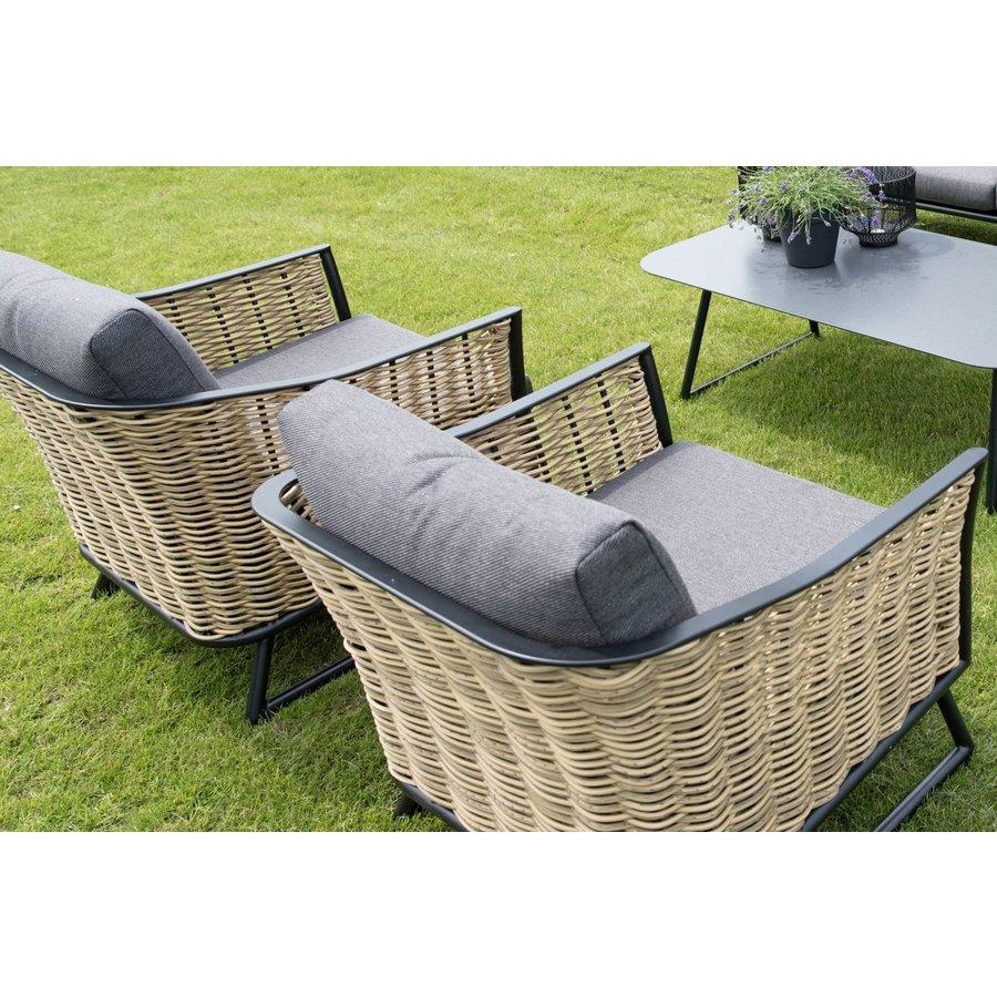 Lounge Tuinstoel - Solamente - Wicker - Lesli Living-5