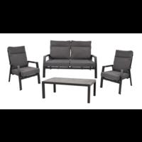 thumb-Lounge Tuinbank – Ohio – 3-Zits - Antraciet - Aluminium – Lesli Living-7