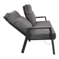 thumb-Lounge Tuinbank – Ohio – 3-Zits - Antraciet - Aluminium – Lesli Living-2
