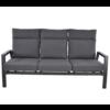 Lesli Living  Lounge Tuinbank – Ohio – 3-Zits - Antraciet - Aluminium – Lesli Living