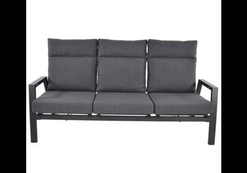 Lounge Tuinbank – Ohio – 3-Zits - Antraciet - Aluminium – Lesli Living