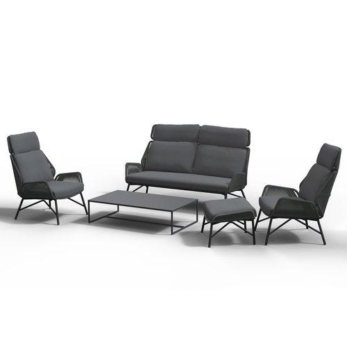 4 Seasons Outdoor Lounge Tuinbank - Carthago - Platinum - Rope - 4 Seasons Outdoor