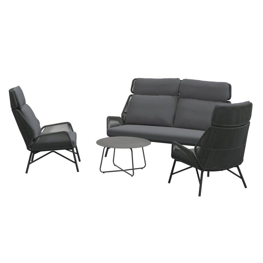 Lounge Tuinstoel - Carthago - Platinum - Rope/RVS - 4 Seasons Outdoor-4