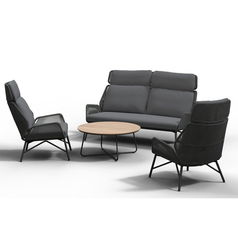 Lounge Tuinstoel - Carthago - Platinum - Rope/RVS - 4 Seasons Outdoor-5