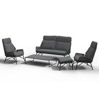 thumb-Lounge Tuinstoel - Carthago - Platinum - Rope/RVS - 4 Seasons Outdoor-6