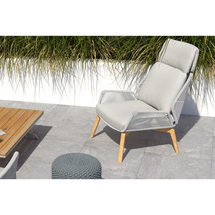 Lounge Tuinstoel - Carthago - Frozen Grey - Rope/Teak - 4 Seasons Outdoor-4