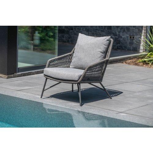 4 Seasons Outdoor Lounge Tuinstoel - Babilonia - Taupe - Rope - 4 Seasons Outdoor